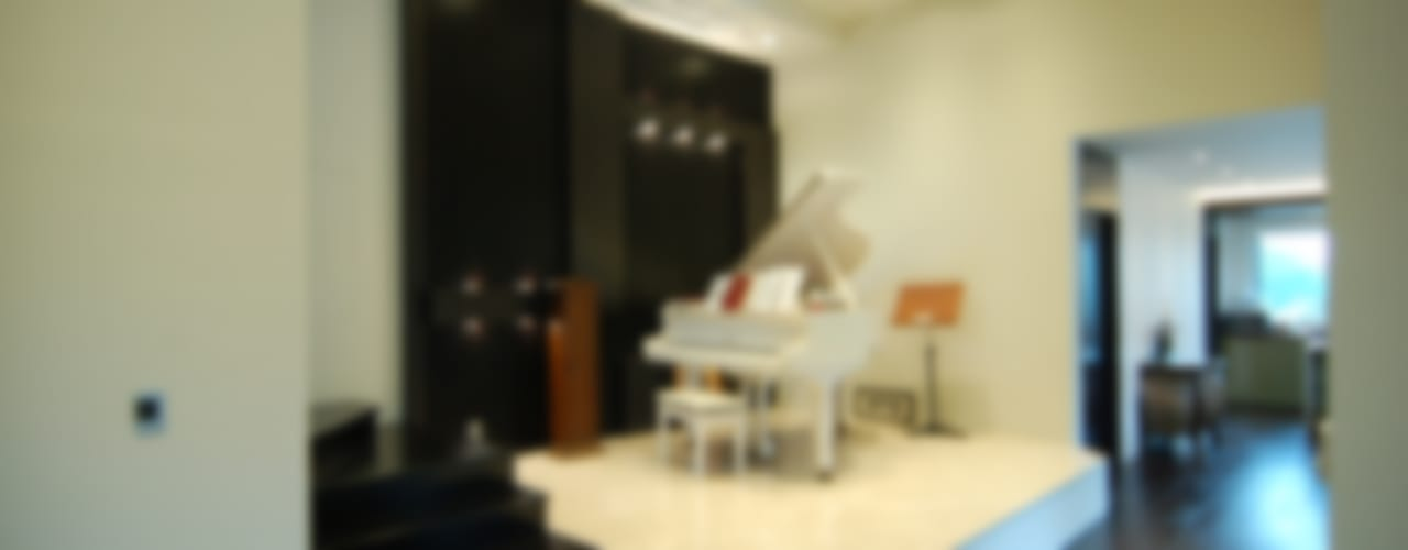 CASA MUSICA 모던스타일 거실 by 구도건축사사무소 모던