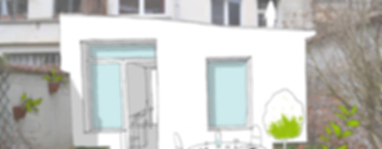 Extension d'une maison unifamiliale à Ixelles Maisons modernes par Responsible Young Architects sprl Moderne