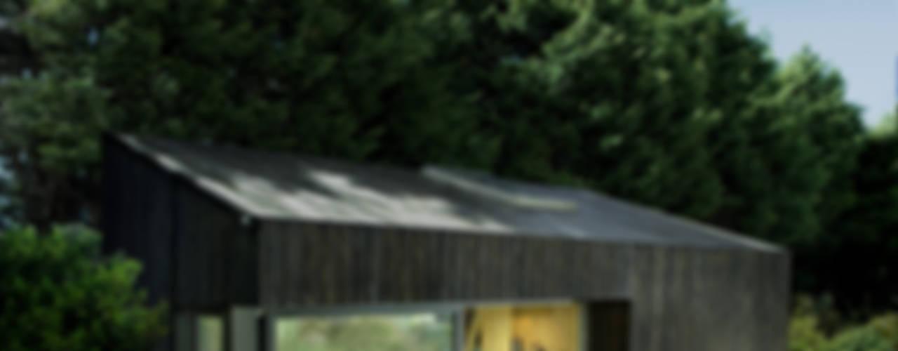 ecospace españa Casas modernas Madera Acabado en madera