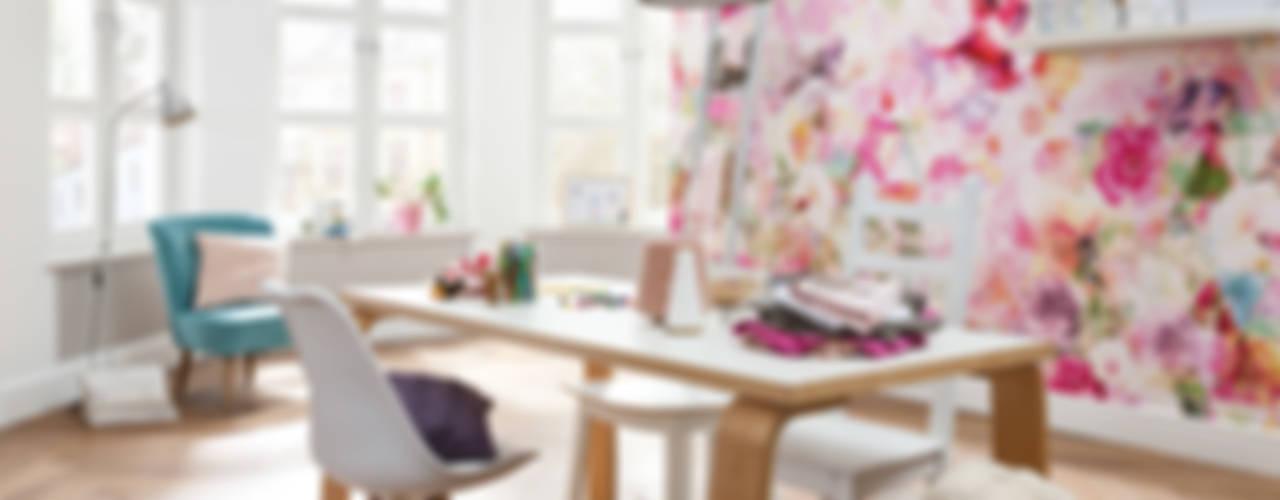 Fotomurales para decorar tu hogar Estudios y despachos modernos de DeColor Moderno