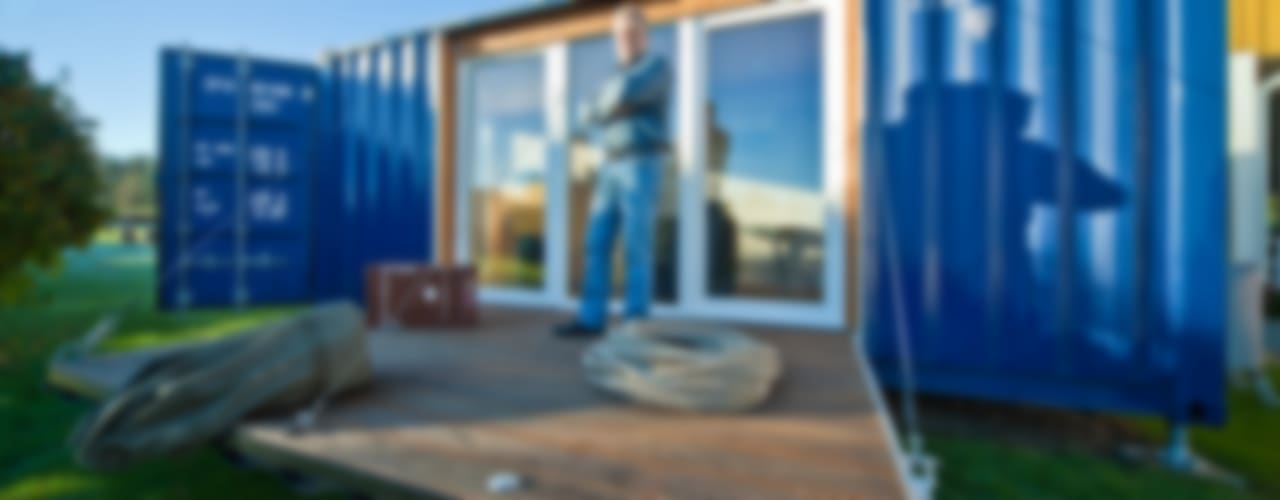 ミニマルな 家 の Stefan Brandt - solare Luftheizsysteme und Warmuftkollektoren ミニマル