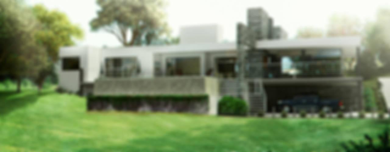 CASA COLINAS | UNQUILLO | VIVIENDA UNIFAMILIAR Balcones y terrazas modernos: Ideas, imágenes y decoración de ARQUETERRA Moderno