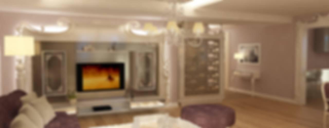 OLGA EVİ- CANYON DELUXE- ANTALYA Eklektik Oturma Odası TELOS İÇ MİMARLIK VE TASARIM Eklektik