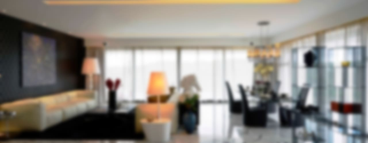 THE RIDGES - A3 VILLA Modern living room by Aijaz Hakim Architect [AHA] Modern