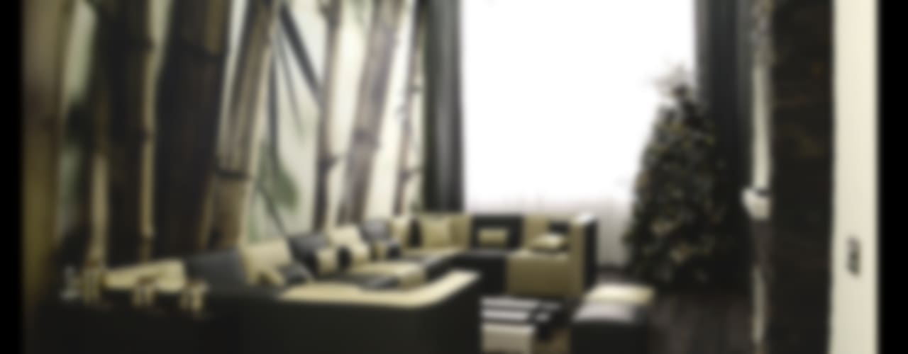 Excelencia en Diseño Modern living room Engineered Wood White