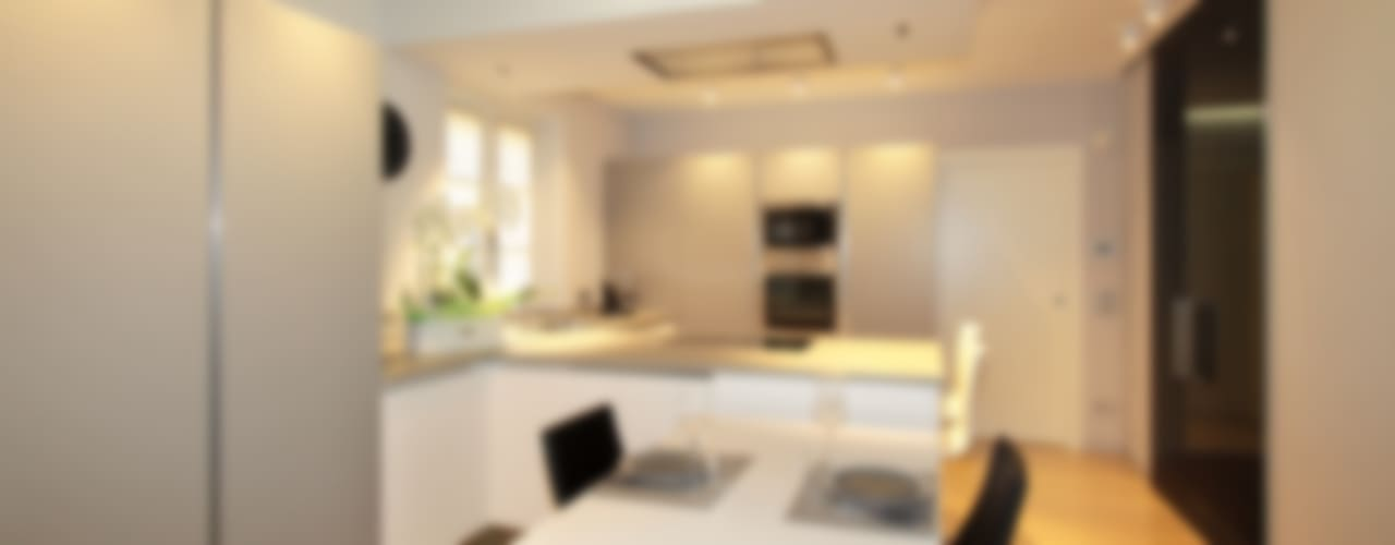 VILLA A GUARENE Cucina moderna di architetto roberta castelli Moderno