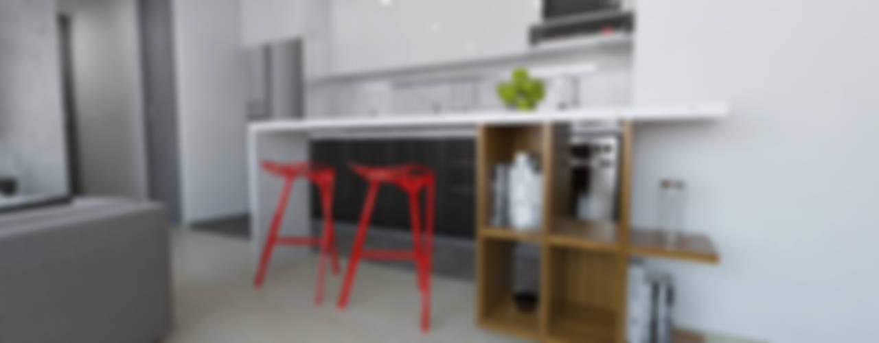 Cocinas de estilo  por TRESD ARQUITECTURA Y CONSTRUCCIÓN DE ESPACIOS