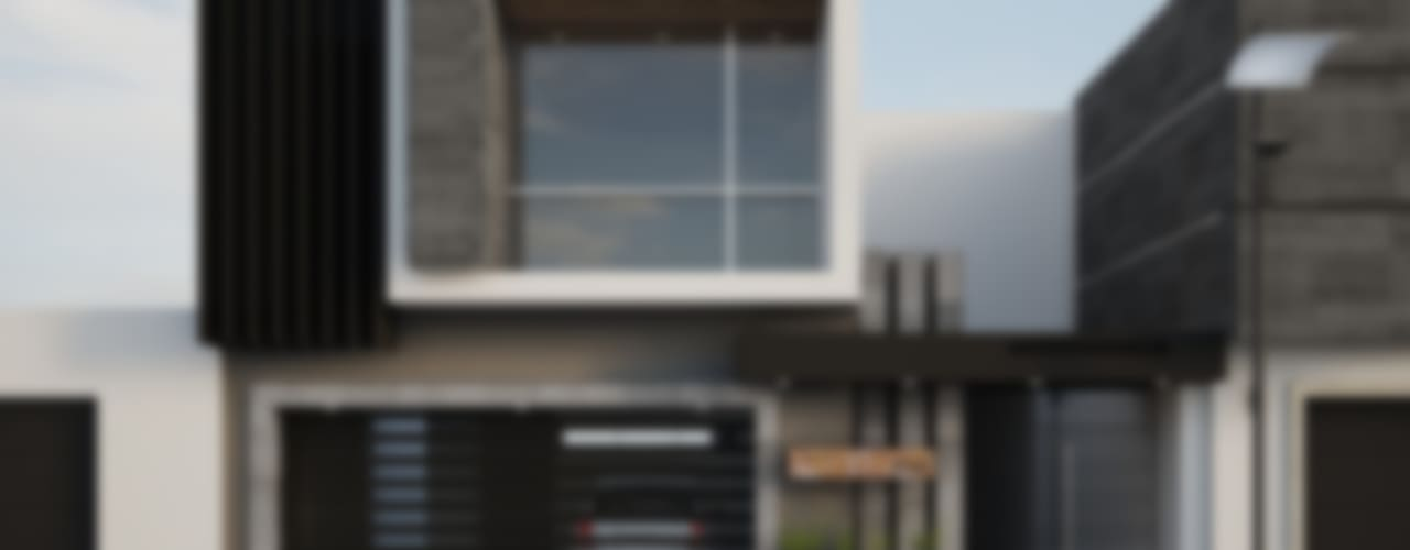 Fachada JR220: Casas de estilo  por Modulor Arquitectura, Moderno
