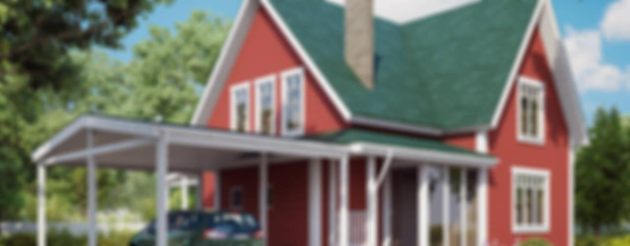 Серия коттеджей в Английском стиле Дома в классическом стиле от Mild Haus Классический