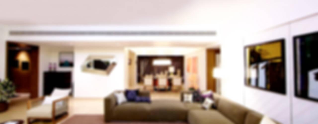ABIL Experience Center - Castle Royale T4 Modern living room by Aijaz Hakim Architect [AHA] Modern