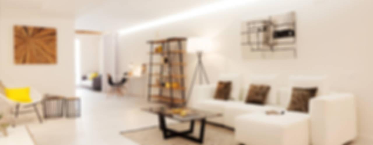Projekty,  Salon zaprojektowane przez Markham Stagers,