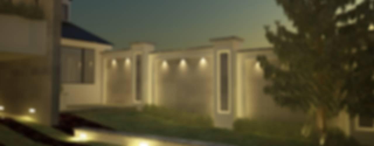 Residencia Cervantes: Jardines de estilo  por AQ3 Arquitectos