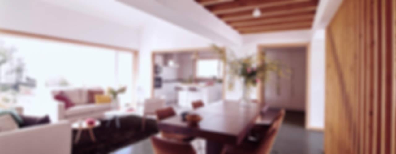 La casa de Sara y Fran Salones de estilo escandinavo de Estudio de Arquitectura Sra.Farnsworth Escandinavo