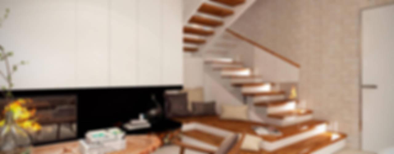 Artichok Design Soggiorno in stile scandinavo Bianco