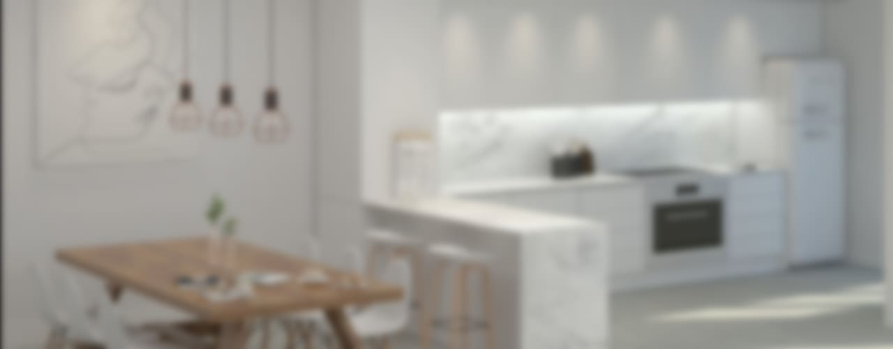 Residential Building in Lisbon Salas de jantar escandinavas por Lagom studio Escandinavo