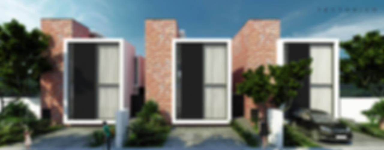 Minimalist houses by Tectónico Minimalist