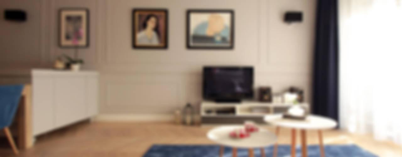 NAVY: styl , w kategorii Salon zaprojektowany przez Kołodziej & Szmyt Projektowanie wnętrz