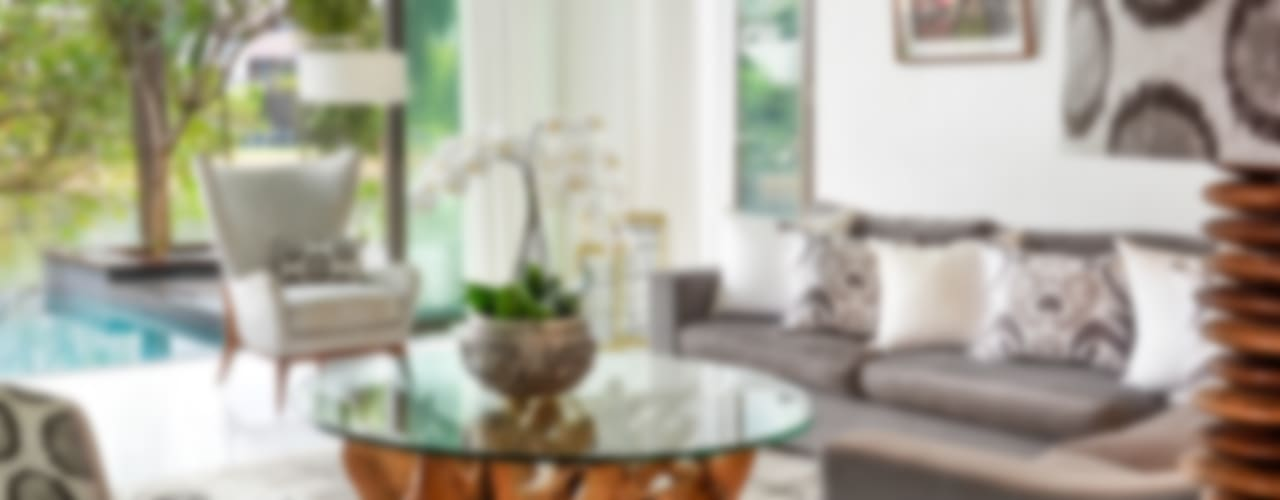 Sentosa Beach House Design Intervention Living room Beige