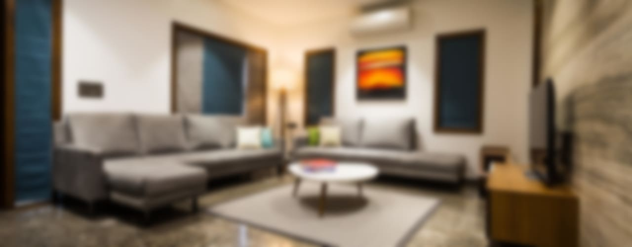 Chandresh bhai interiors Modern living room by Vipul Patel Architects Modern