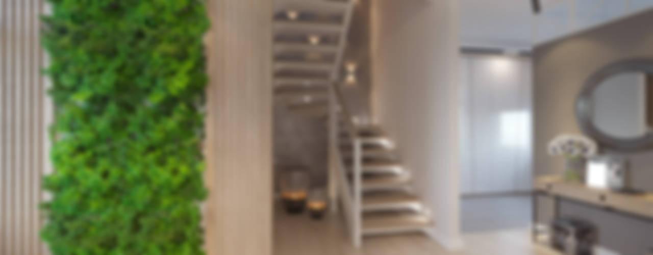 Студия авторского дизайна ASHE Home Koridor & Tangga Gaya Eklektik