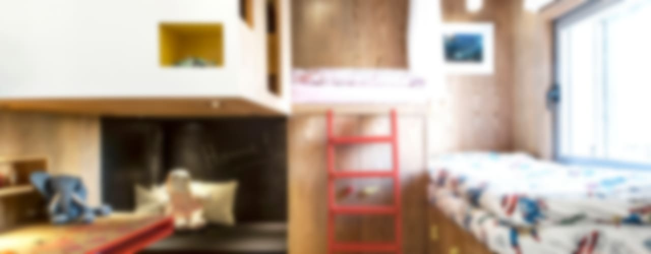 Duplex Penthouse in Tel Aviv Chambre d'enfant minimaliste par toledano + architects Minimaliste