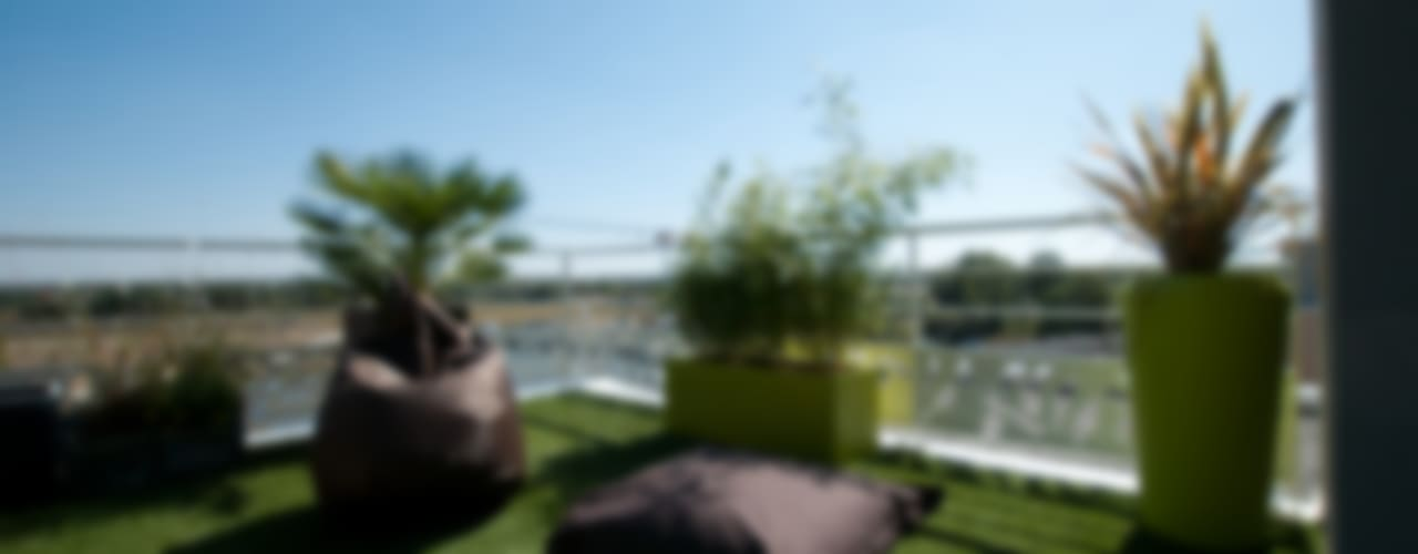 Varandas, alpendres e terraços modernos por Vertigo jardins Moderno