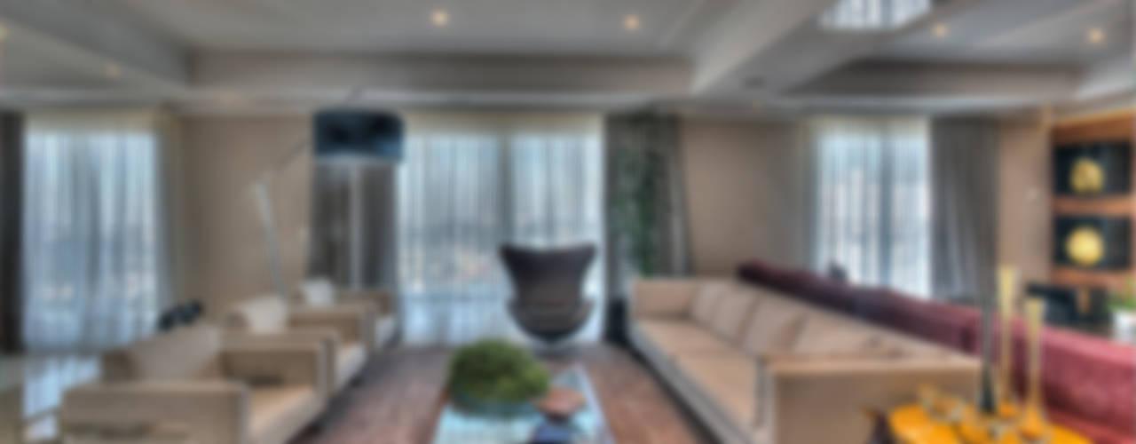 غرفة المعيشة تنفيذ Pauline Kubiak Arquitetura