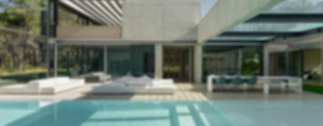 Piscina minimalista di guedes cruz arquitectos Minimalista