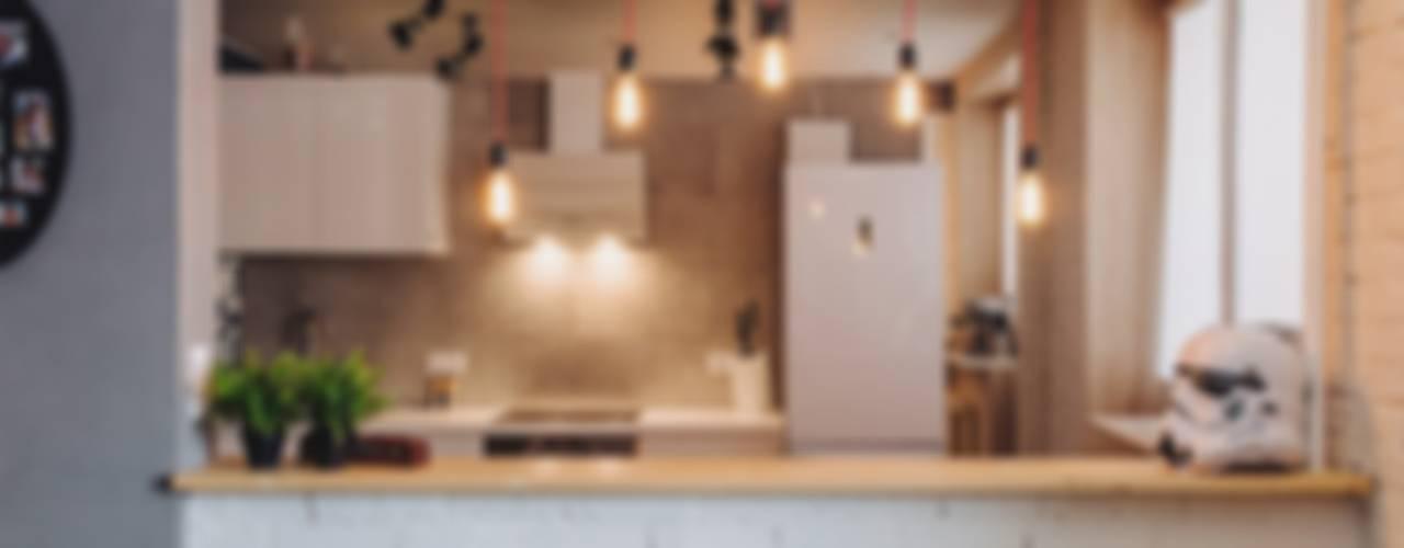 Cocinas de estilo industrial de Студия Антона Сухарева 'SUKHAREVDESIGN' Industrial