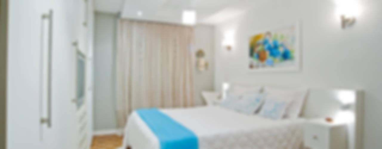 Patrícia Azoni Arquitetura + Arte & Design Eklektik Yatak Odası Beyaz