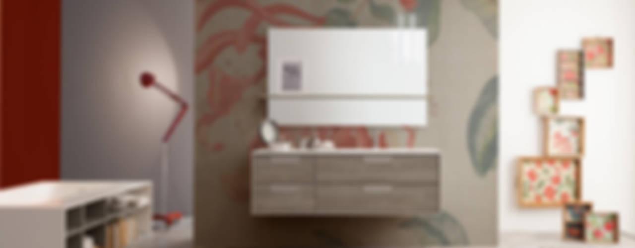 Summit collection: furniture elements Mastella Design BagnoContenitori Legno composito Effetto legno