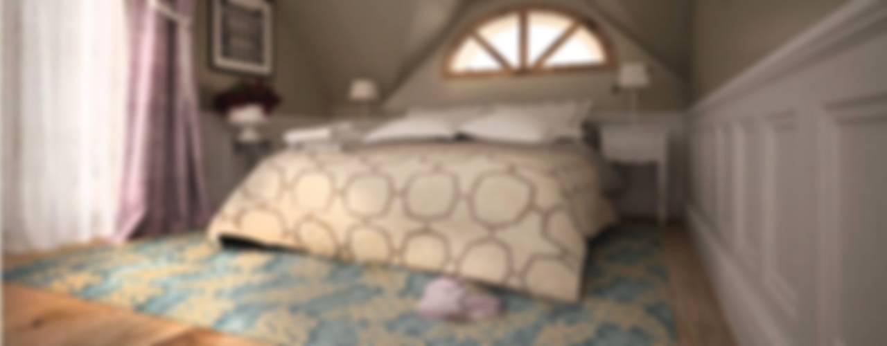 Dom pod Warszawą: styl , w kategorii Sypialnia zaprojektowany przez WZ STUDIO,Klasyczny