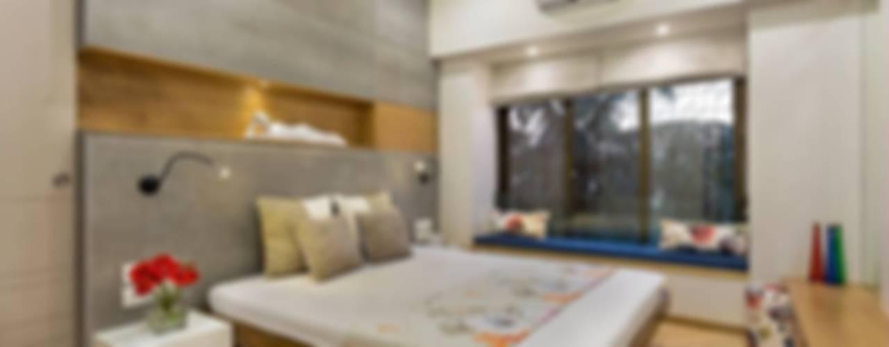 JANKI KUTIR APARTMENT Modern style bedroom by The design house Modern
