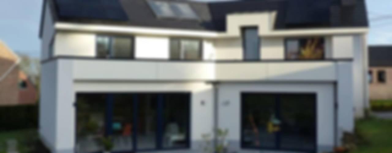 Maison passive à Bonneville Maisons modernes par Bureau d'Architectes Desmedt Purnelle Moderne