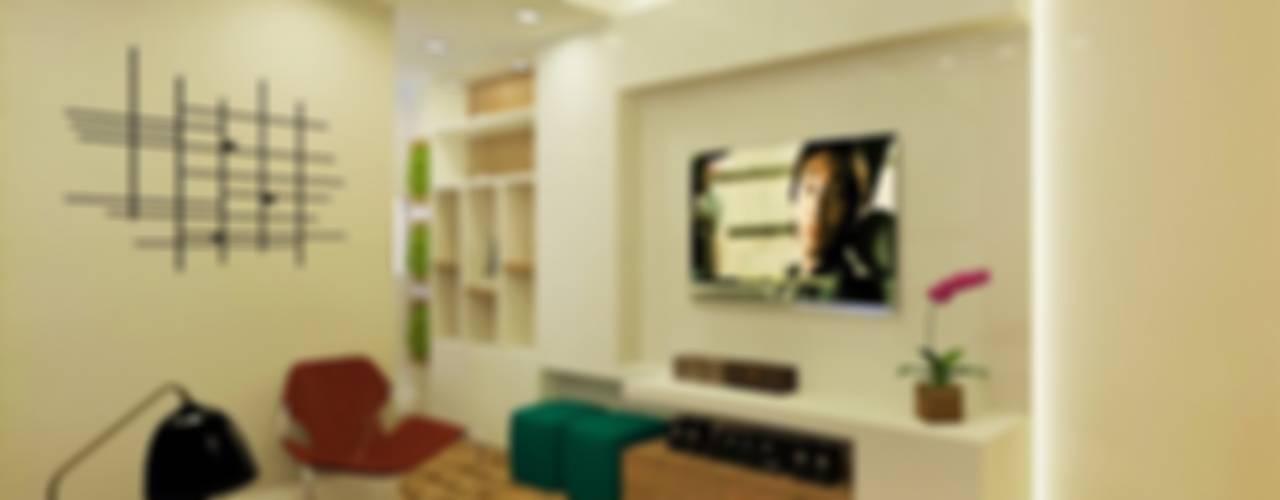Projeto MC Salas de estar modernas por Isadora Cabral Arquitetura Moderno