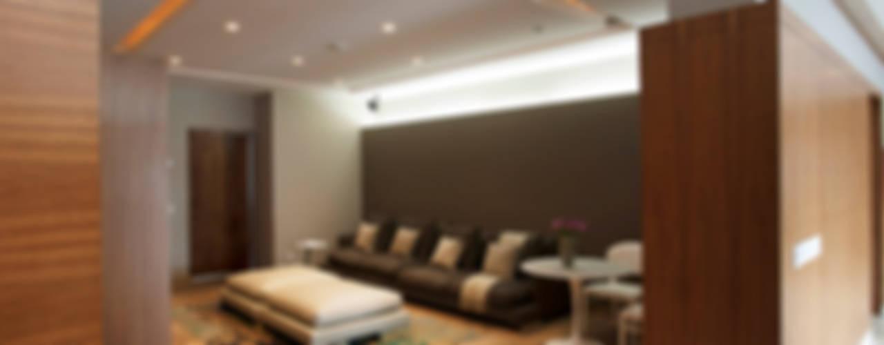 Departamento CGB Salones modernos de ARCO Arquitectura Contemporánea Moderno