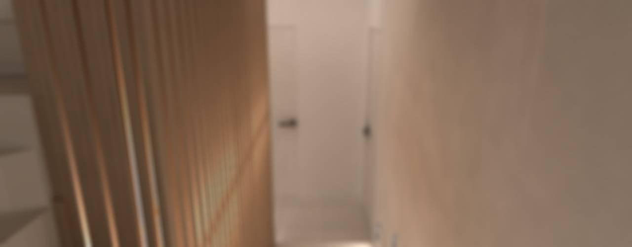 미니멀리스트 복도, 현관 & 계단 by A-partmentdesign studio 미니멀