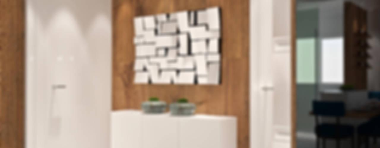 Apartamento: Corredores e halls de entrada  por Tiago Martins - 3D,