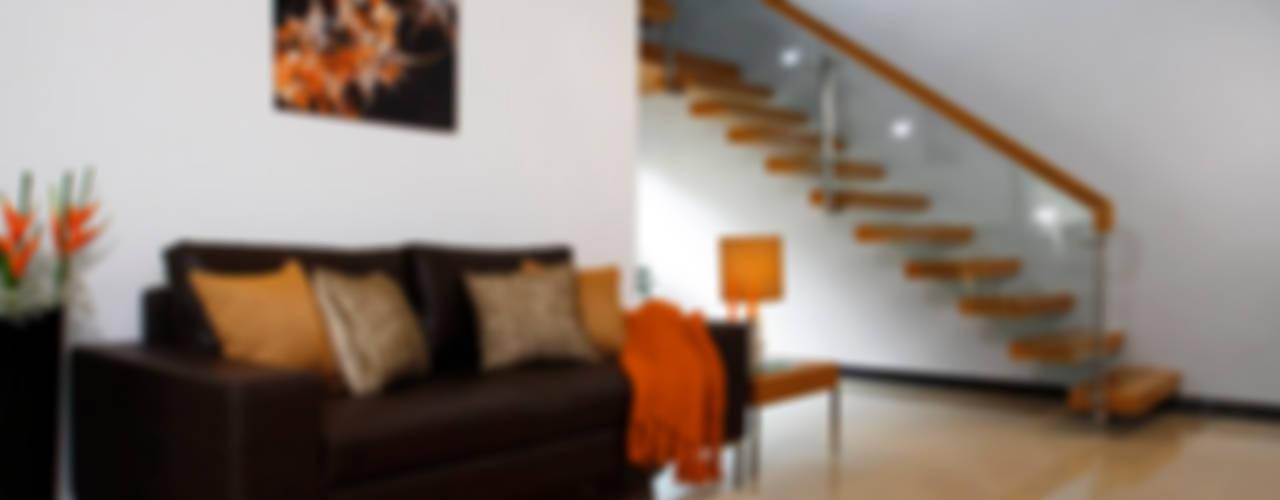 Savio and Rupa Interior Concepts Modern corridor, hallway & stairs