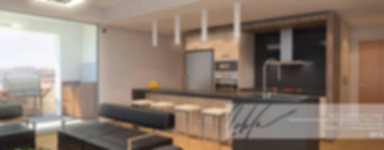 Proyecto unifamiliar Apartamento El Parral: Cocinas de estilo  por Arq.AngelMedina+