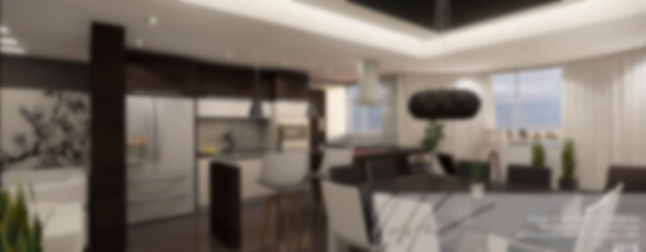 Apartamento Residencial Cocinas de estilo minimalista de Arq.AngelMedina+ Minimalista