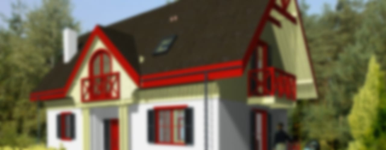 Дома в . Автор – Miacasa - Architektura - Wnętrza, Кантри