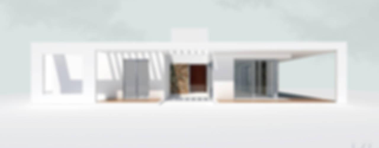 Vista norte: Casas unifamiliares de estilo  por 1.61 Arquitectos
