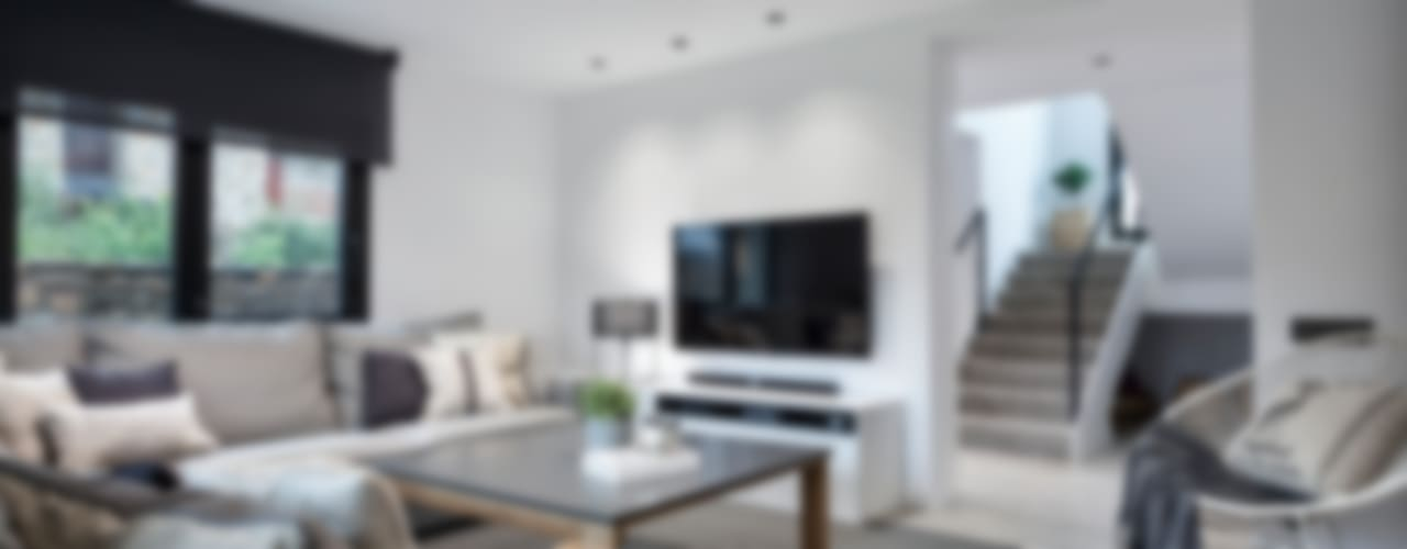 Salas de estar minimalistas por Dröm Living Minimalista