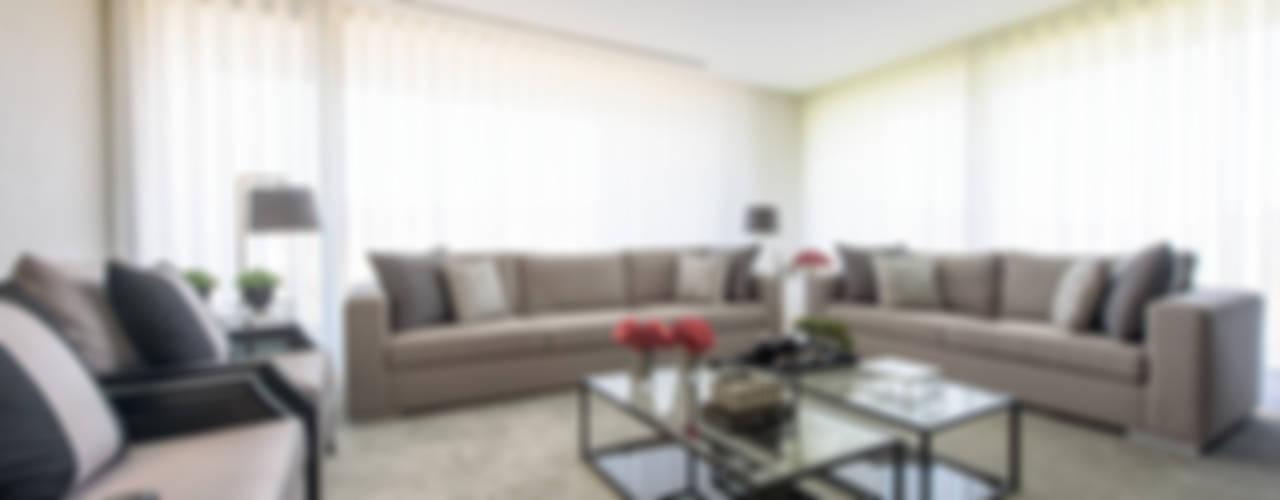 Moradia em Braga Salas de estar modernas por NOZ-MOSCADA INTERIORES Moderno