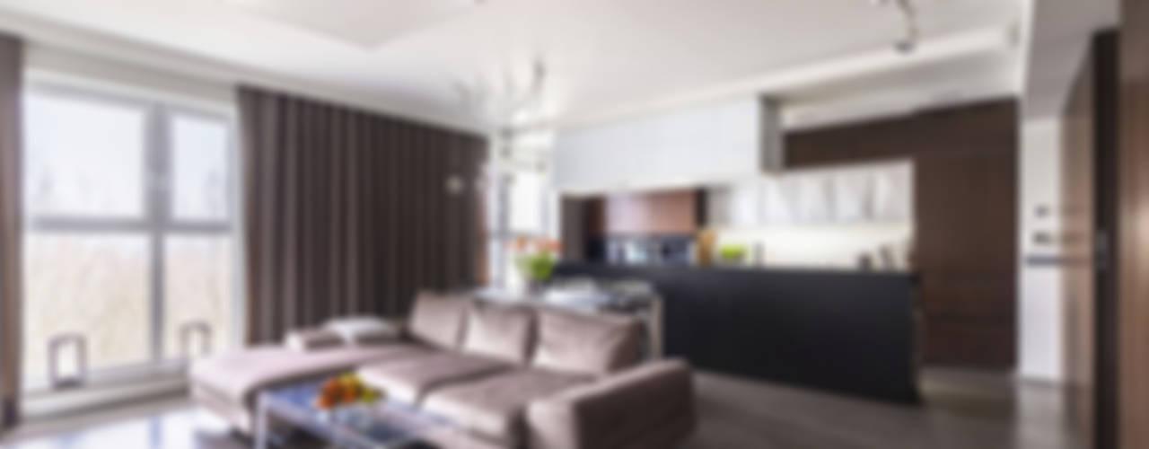 MIESZKANIE - 110m2: styl , w kategorii Salon zaprojektowany przez SQUAT ARCHITEKCI