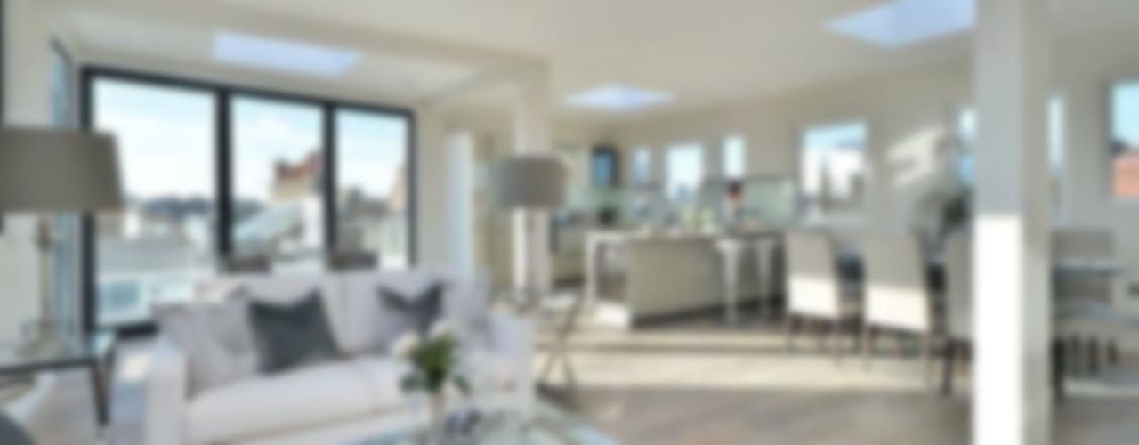 Camden Penthouse:  Living room by Boutique Modern Ltd,