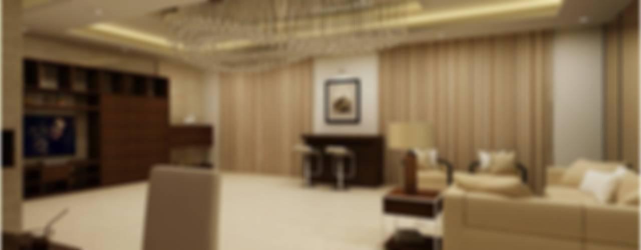 MANTRI ESPANA, BANGALORE. (www.depanache.in) Classic style living room by De Panache - Interior Architects Classic