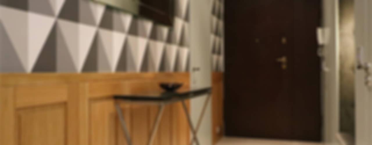 Komfortowe studio w Warszawie: styl , w kategorii Korytarz, przedpokój zaprojektowany przez Koncepcja Wnętrz ,Nowoczesny