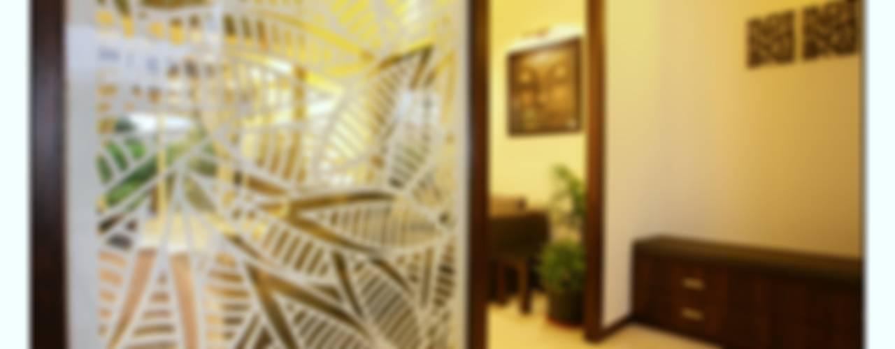 Navmiti Designs Pasillos, vestíbulos y escaleras de estilo moderno